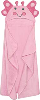 Just Born Love to Bathe Puppet Towel, Pink Butterfly