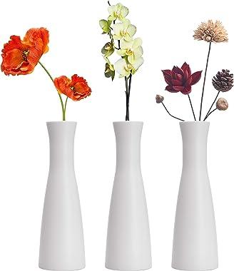 Tall Conic Composite Plastics Flower Vase, Small Bud Decorative Floral Vase Home Decor Centerpieces, Arranging Bouquets, Conn