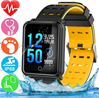 GBD Smart Watch Sport Activity Fitness Tracker with Heart Rate Blood Pressure Sleep Monitor Pedometer Waterproof