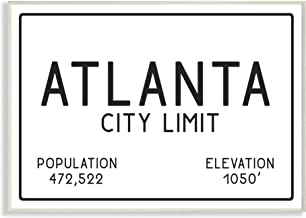 Stupell Industries Atlanta City Limit Wall Plaque Art, Proudly Made in USA