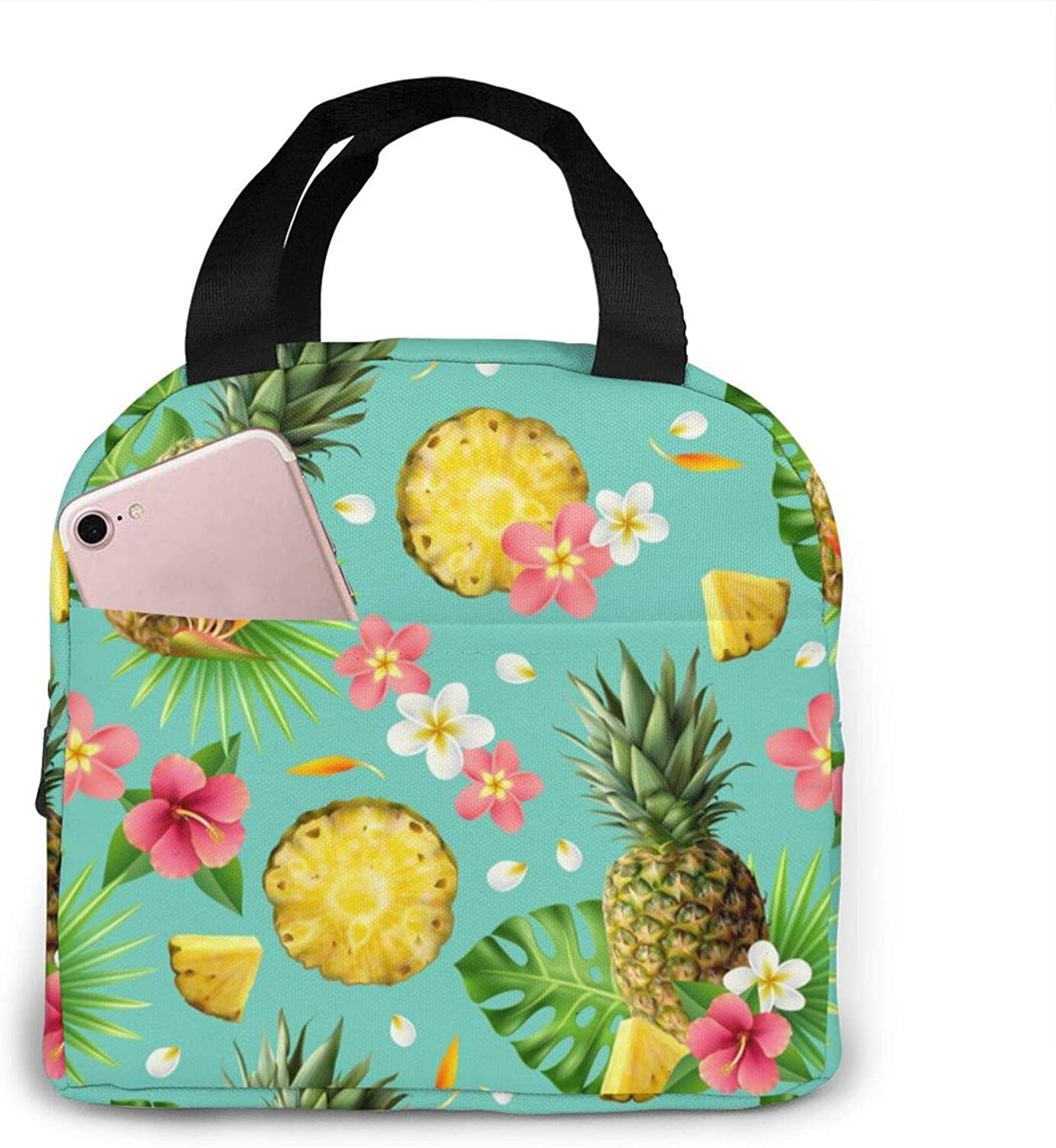 Brand Cheap Sale Venue Tote Lunch Bags For Women 2021 spring and summer new Portable Men Ins Pineapple Watercolor