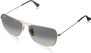 RAY-BAN RB3136 Caravan Square Sunglasses, Gold/Grey Gradient, 58 mm