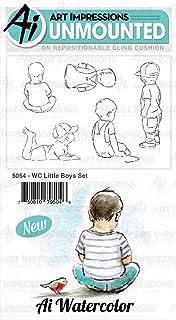 طوابع مطاطية لاصقة بألوان مائية للأولاد الصغار