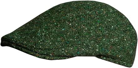 Traditional Irish Tweed Flat Cap, Made in Donegal Ireland, Green.