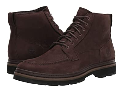 Timberland Port Union Waterproof Moc Toe Boot (Dark Brown Nubuck) Men