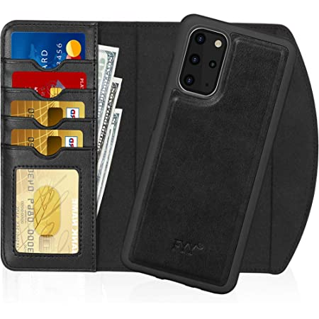 """FYY Case for Samsung Galaxy S20 Plus 5G 6.7"""", 2-in-1 Magnetic Detachable Wallet Case [Wireless Charging Support] with Card Slots Folio Case for Galaxy S20 Plus 5G 6.7 inch 2020 Black"""
