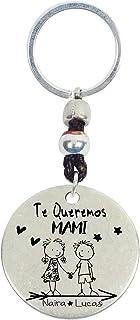 Llavero Día de la madre, personalizable fabricado en Zamak baño plata