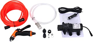 Amarine Made DC 12V Portable High Pressure Washdown Deck Pump 100W 145 PSI Self-Priming Quick Car Cleaning Wash Pump Electrical Washer Kit