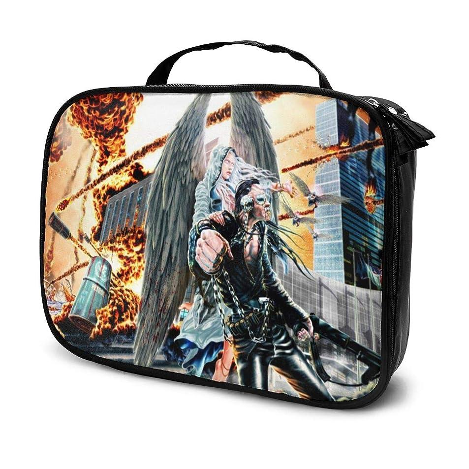 熱狂的なスタッフ閃光化粧ポーチ Megadeth 女性化粧品バッグ ビューティー メイク道具 フェイスケアツール 化粧ポーチメイクボックス ホーム、旅行、ショッピング、ショッピング