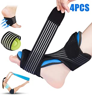 Plantar Fasciitis Night Splint for Sleep Support, Adjustable Dorsal Night Splints Brace -with Arch Supports&Elastic Excecise Band for Effective Relief from Arthritis, Tendonitis, Heel, Arch Foot Pain