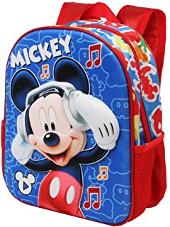 Mickey Mouse Music - Mochila 3D Pequeña, Multicolor