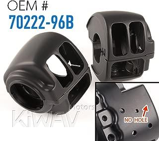 KiWAV black aluminum switch housing 0016 fit 1996-2015 Harley-Davidson OEM#70222-96B