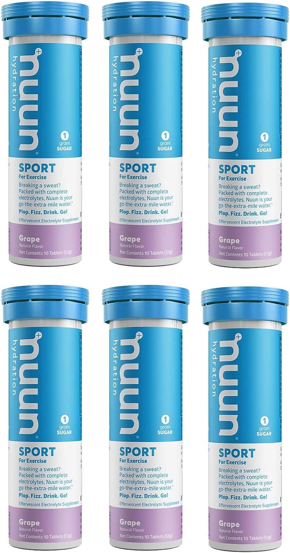 Nuun スピード対応 期間限定今なら送料無料 全国送料無料 Active: Grape Electrolyte Enhanced 6 Hydration Tub Tablets