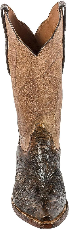 Black Jack Hand-Tooled Vamp Locust Cord Boot
