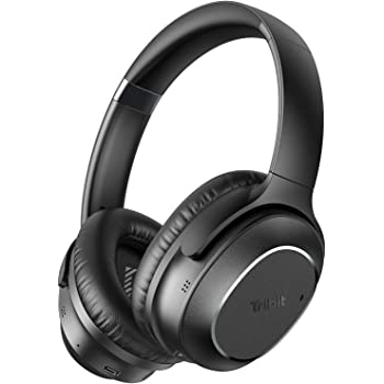 Tribit QuietPlus 72 Bluetooth Headphones, 32dB Hybrid Active Noise Cancelling Headphones, Wireless Over Ear Headphones with CVC8.0 Mic, 30H Playtime, HiFi Stereo Headset, Foldable for Travel Work Home