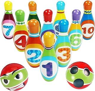 CXTSMSKT Kids Bowling Toys Set Toddlers Indoor Numeral Educational Toys for Boys Girls