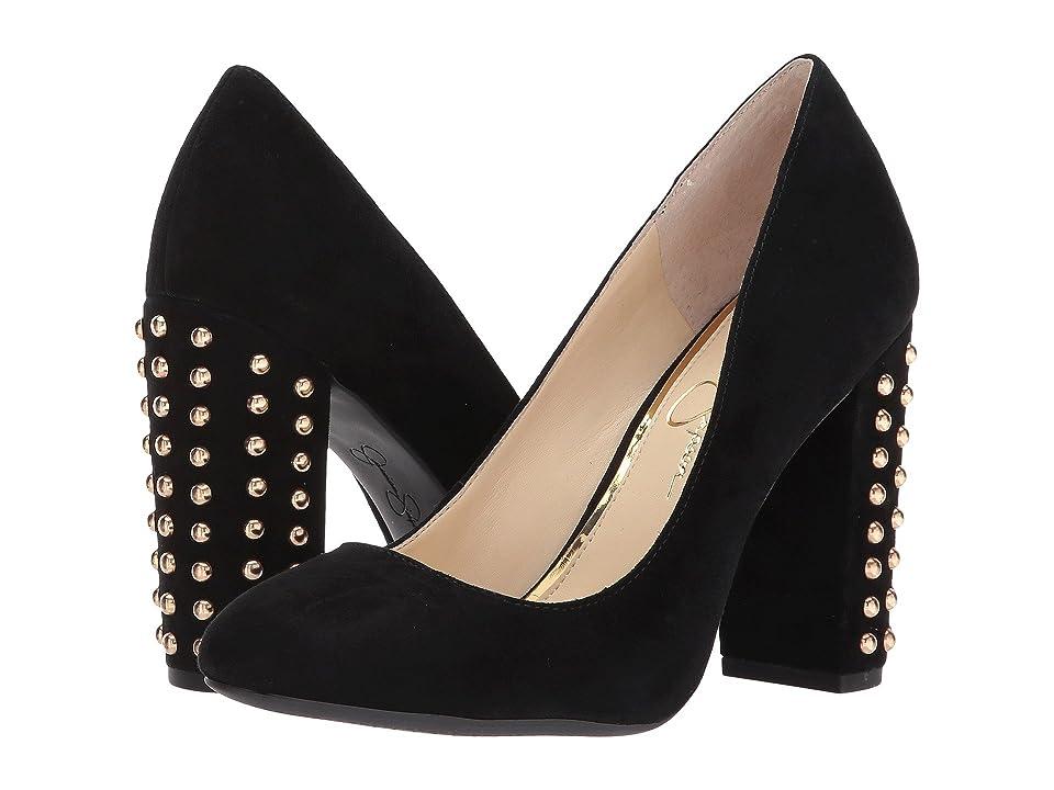 Jessica Simpson Bainer (Black Lux Kid Suede) High Heels