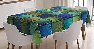 ABAKUHAUS Coloré Nappe, Géométrique Moderne Bohem, Linge de Table Rectangulaire pour Salle à Manger Décor de Cuisine, 140 ...