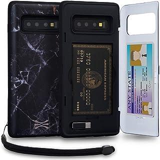 TORU CX PRO Galaxy S10 Plus Wallet Case Pattern with Hidden Credit Card Holder ID Slot Hard Cover, Strap, Mirror & USB Ada...