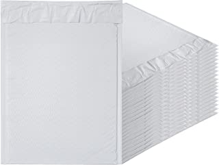 White Poly bubble mailers 9.5 x 13.5 Padded envelopes 9 1/2 x 13 1/2 by Amiff. Pack of 20 Poly cushion envelopes. Exterior size 10 x 13.5 (10 x 13 1/2). Peel and Seal. Mailing, shipping, packing.
