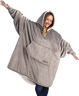 THE COMFY: Original Blanket Sweatshirt, Seen on Shark Tank, Invented by 2 Brothers, Warm, Soft, Cozy, Wearable Sherpa Hoodie, Multiple Colors, One Size Fits All, Adults, Men, Women, Teens, Friends
