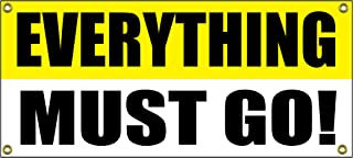 Everything Must Go Banner Retail Store Shop Business Sign 36