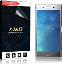 J&D Compatible for 2-Pack Xperia XZ Premium Screen Protector (Not Glass), [No Lifted Edges] [Bubble Free] [Not Full Coverage] HD Clear Screen Protector for Sony Xperia XZ Premium Screen Protector