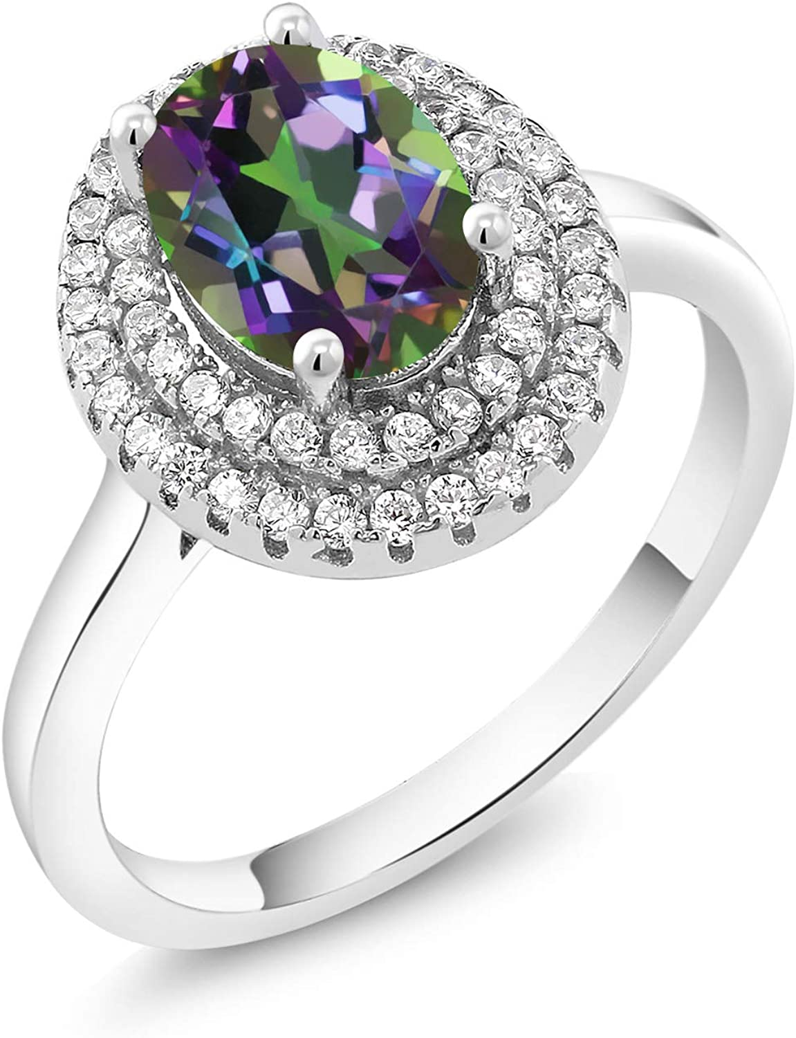 Gem Stone King 2.78 Ct Oval specialty shop Mystic Green 925 Silv Sterling Topaz Max 63% OFF