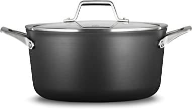 Calphalon Premier Hard-Anodized Nonstick 6-Quart Stock Pot with Cover, Black