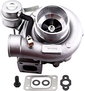 maXpeedingrods GT2871 GT2860 GT25 GT28 Turbo Charger T25 0.64A/R 400BHP+, 5-Bolt Flange Turbocharger for 1.8L-3.0L Engine, Water + Oil Cooled T25 T28 Turbo W/Gaskets
