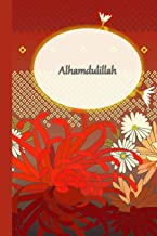 Alhamdulillah - Red: Muslim Gratitude Journal Notebook Diary Gift for Women and Girls - Red