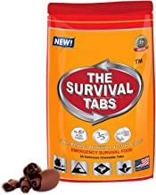 Survival Tabs 2 Day 24 Tabs Emergency Food Survival Food Meal Replacement MREs Gluten Free and Non-GMO 25 Years Shelf Life Long Term Food Storage - Chocolate Flavor