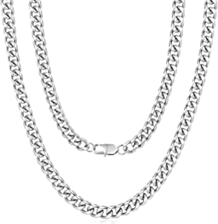 Mens Chain, Gold Chain for Men, Miami Silver Cuban Link...