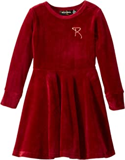 Velvet Underground Waisted Dress (Toddler/Little Kids/Big Kids)
