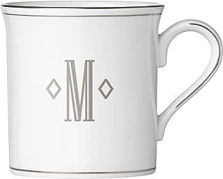 Lenox Federal Platinum Block Monogram Dinnerware Mug, M