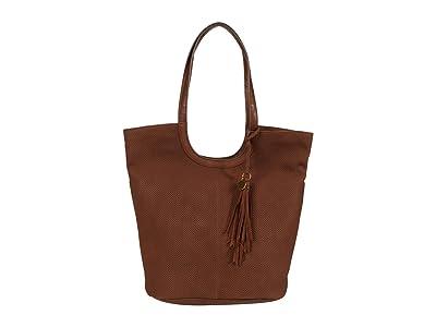 Lucky Brand Ebon Perf Tote (Brandy) Handbags