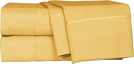 أغطية وسائد ومفرش سرير منزلي من لوش - 6 قطع - فائقة النعومة - تناسب جيب عميق للمرتبة السميك جدًا، مقاومة للتجاعيد والبهتان...
