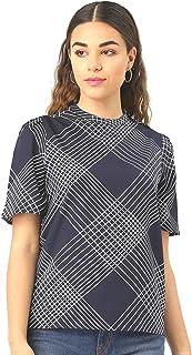 Krave Women's Checkered Regular Top