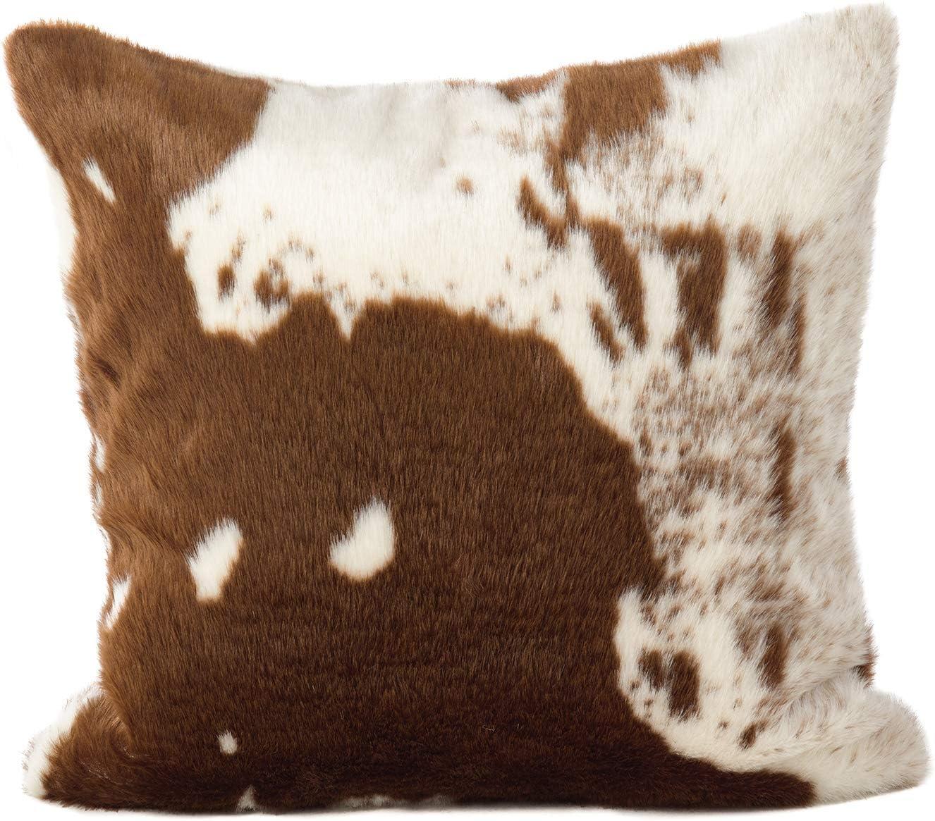 Atlanta Mall Fennco Styles Rustic quality assurance Faux Fur Cow Decorative x T Hide 18 Inch