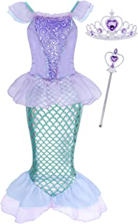 HenzWorld Aurora Costumes Dress Princess Halloween Birthday Party Cosplay Outfit Accessories 1-8 Years