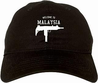 Welcome To Malaysia Uzi Machine Guns Country 6 Panel Dad Hat Cap
