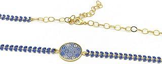 Archetto Fascia regolabile Lisboa azulejo blu azulejo blu bianco ottone oro 24k accessorio per capelli personalizzati rega...
