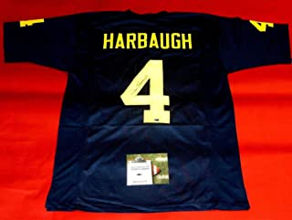 jim harbaugh autographed michigan jersey