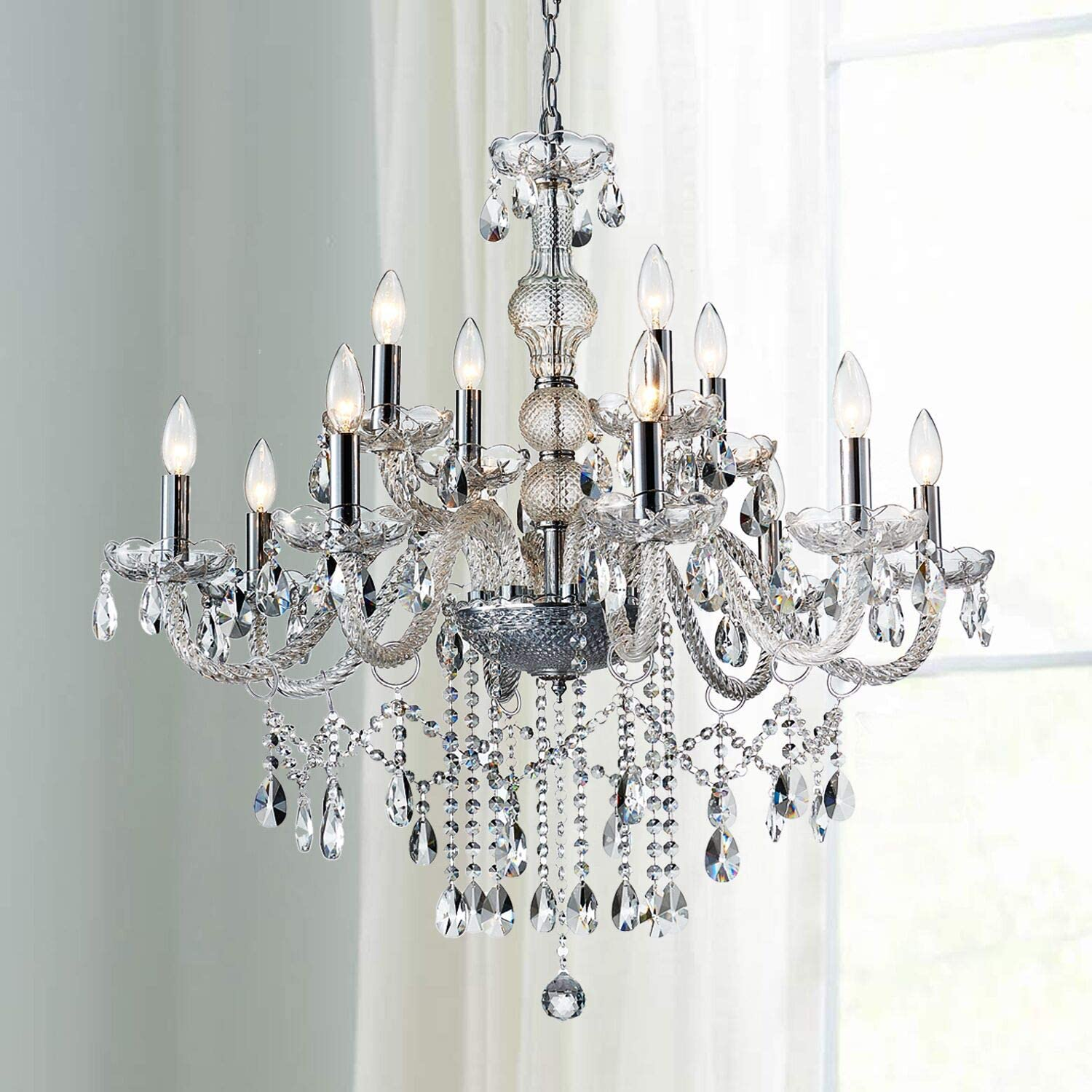 Saint Mossi 12-Lights Max 75% OFF Crystal Chandelier C K9 with High material Light Fixture