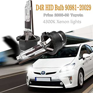 QKPARTS D4R HID Bulbs Headlight 4300K 90981-20029 for Prius 2006-2009 Part# 42406