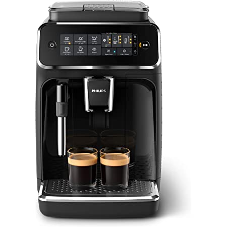 Philips 3200 Series Fully Automatic Espresso Machine w/ Milk Frother, Black, EP3221/44