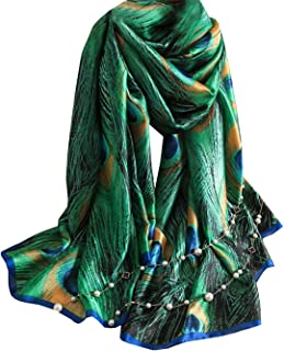 FM Womens Mulberry Silk Scarves Long Satin Lightweight Scarf For Women