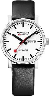 Mondaine - Evo2 - Reloj de Cuero Negro para Hombre y Mujer, A132.30348.11SBB, 40 MM