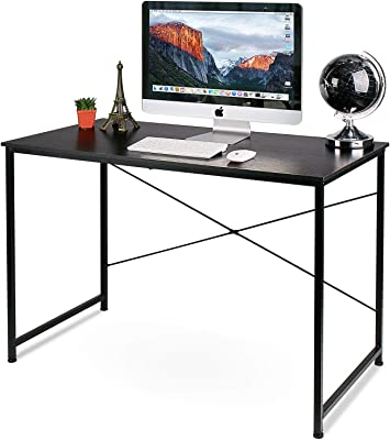 Writing Computer Desk Modern Simple Study Desk Industrial Style Laptop Table for Home Office, Black