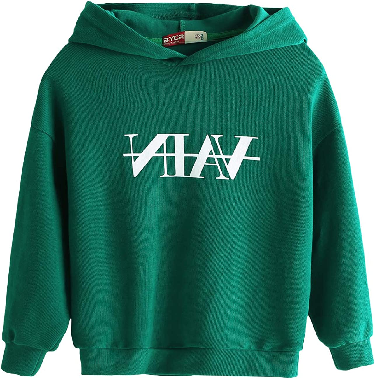 BYCR Boys' Lightweight Hoodie Soft Fleece Sweatshirt Pullover with Hood for Kids